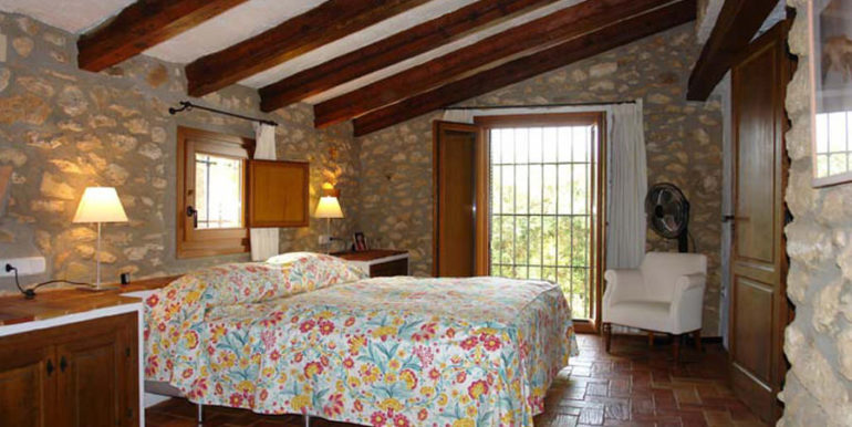 Exceptional stone finca in Moraira Sabatera - Bedroom - ID: 5500006