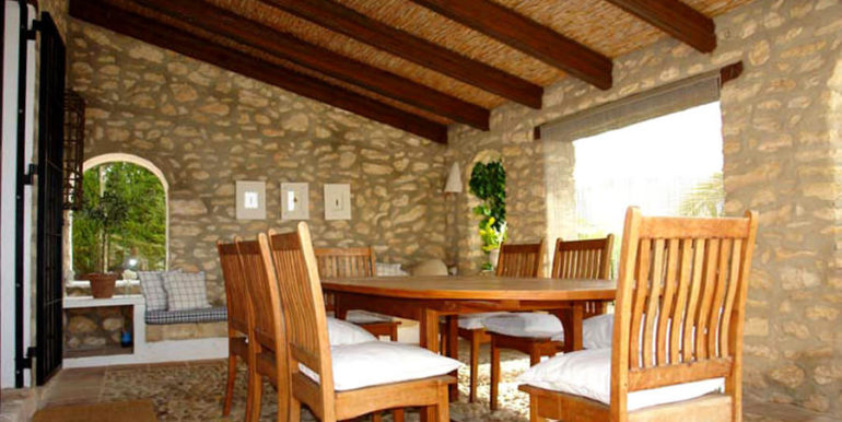 Exceptional stone finca in Moraira Sabatera - Covered terrace - ID: 5500006