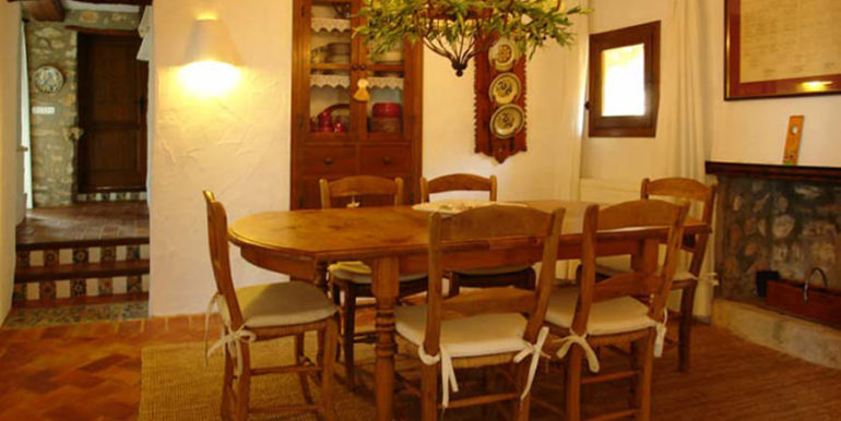 Exceptional stone finca in Moraira Sabatera – Dining room – ID: 5500006