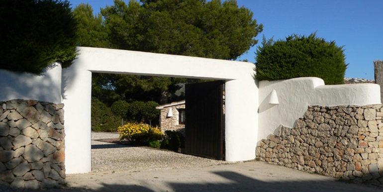 Exceptional stone finca in Moraira Sabatera - Gate - ID: 5500006