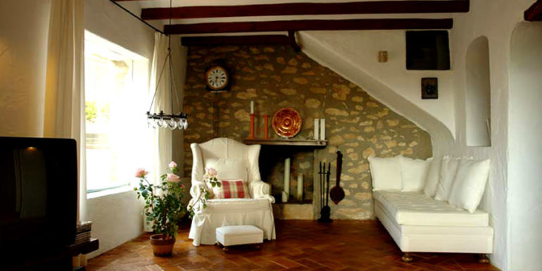 Exceptional stone finca in Moraira Sabatera – Living room – ID: 5500006