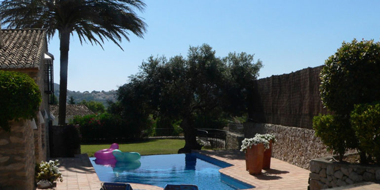 Exceptional stone finca in Moraira Sabatera - Pool terrace - ID: 5500006