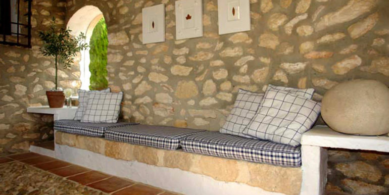 Exceptional stone finca in Moraira Sabatera – Bank – ID: 5500006