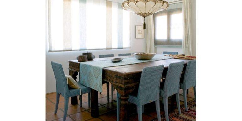Extraordinaria villa estilo ibicenco en Moraira El Portet - Comedor - ID: 5500001 - Arquitecto Joaquín Lloret