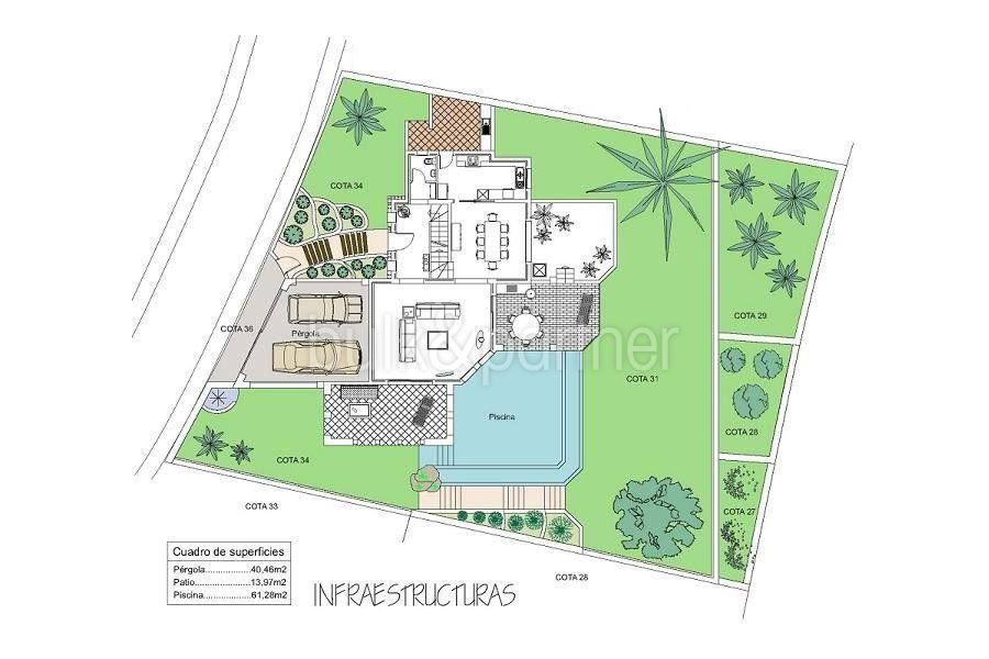 Aussergewöhnliche Ibiza-Style Villa in Moraira El Portet - Grundriss Infrastruktur - ID: 5500001 - Architekt Joaquín Lloret