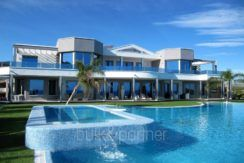 First line luxury villa in Moraira Cap Blanc – View from the pool – ID: 5500003