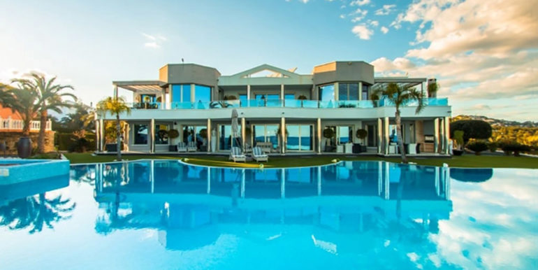 First line luxury villa in Moraira Cap Blanc - View from the pool - ID: 5500003