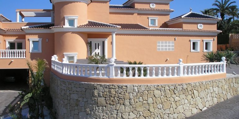 First line luxury villa in Moraira Cap Blanc - Sideview - ID: 5500054