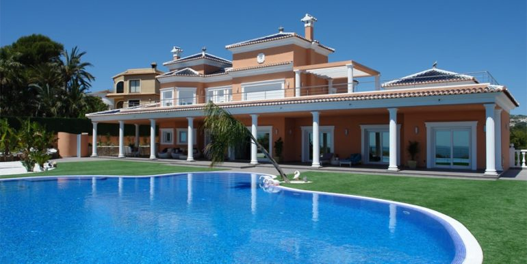 First line luxury villa in Moraira Cap Blanc - Pool - ID: 5500054