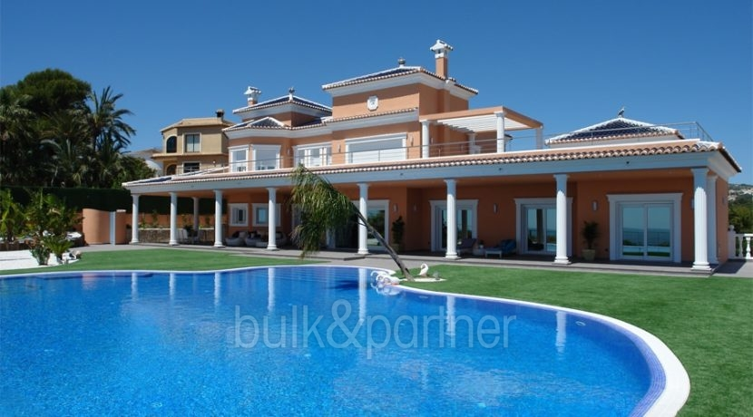 First line luxury villa in Moraira Cap Blanc – Pool – ID: 5500054