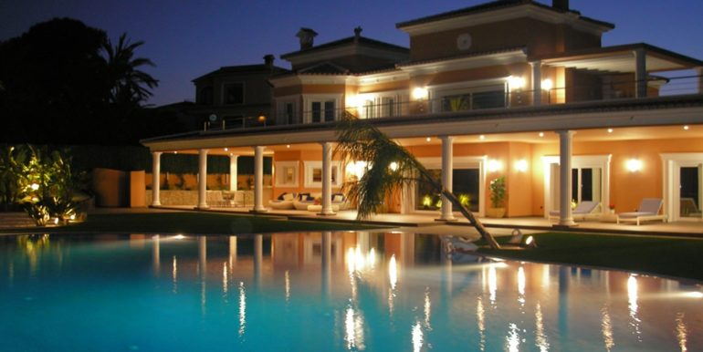 First line luxury villa in Moraira Cap Blanc - At night - ID: 5500054