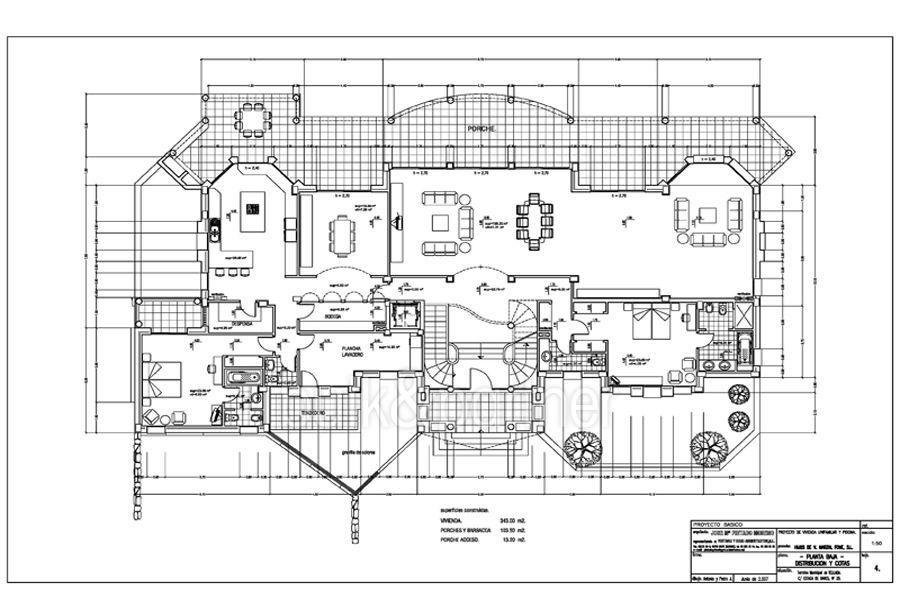 Villa de lujo en primera linea en Moraira Cap Blanc - Plano planta alta - ID: 5500003