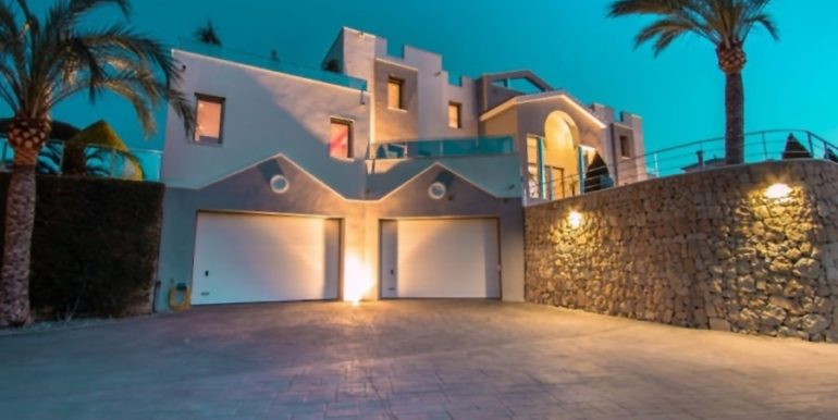 First line luxury villa in Moraira Cap Blanc - At night - ID: 5500003