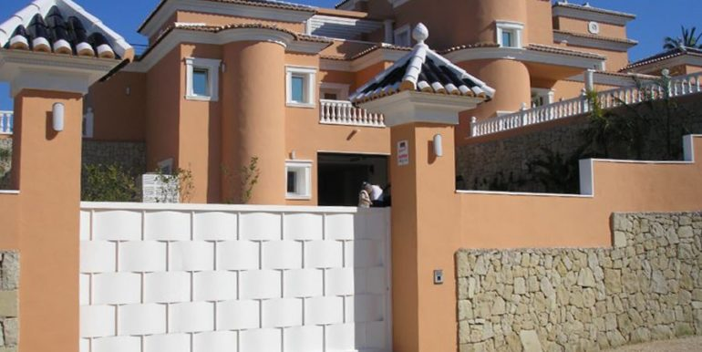 First line luxury villa in Moraira Cap Blanc - Gate - ID: 5500054