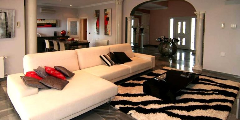 First line luxury villa in Moraira Cap Blanc - Living room - ID: 5500054
