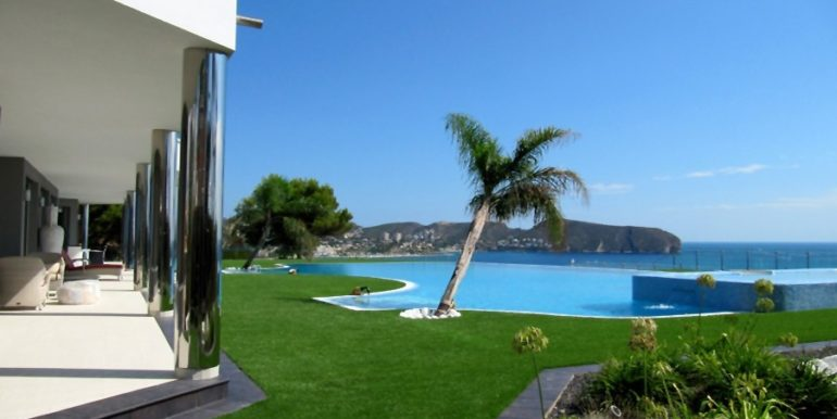First line luxury villa in Moraira Cap Blanc - Pool - ID: 5500003
