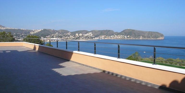 First line luxury villa in Moraira Cap Blanc - Roof terrace - ID: 5500054