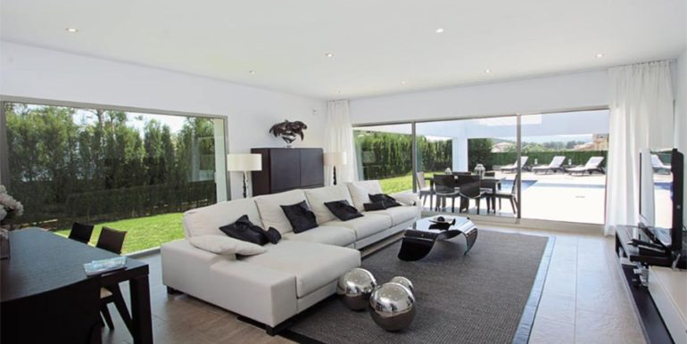 Modern and minimalist villa in Jávea La Guardia Park – Living area – ID: 5500034a