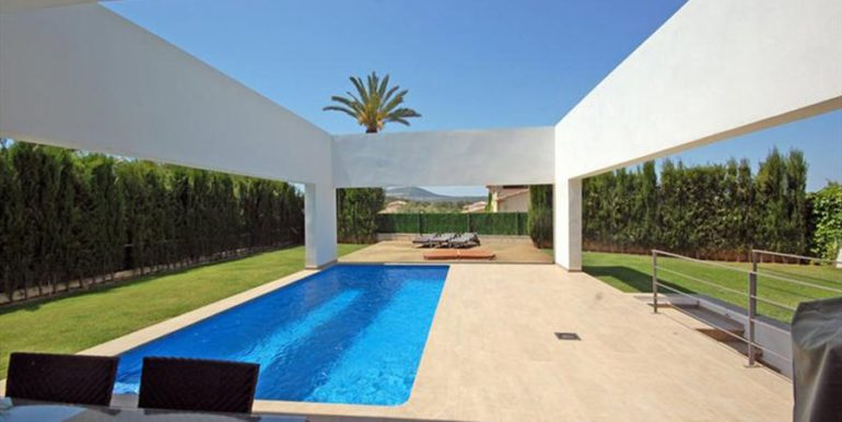 Modern and minimalist villa in Jávea La Guardia Park – Pool terrace – ID: 5500034