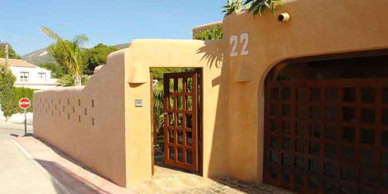 Moderne Ibiza-Style Villa in Moraira El Portet - Eingang - ID: 5500002 - Architekt Joaquín Lloret
