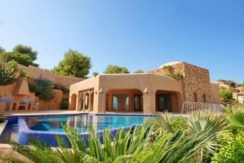 Ibiza style villa with sea views in Moraira El Portet – Pool – D: 5500022