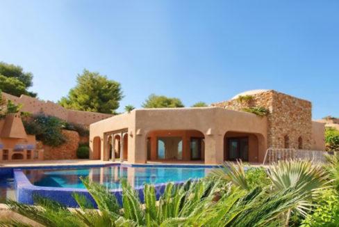 Ibiza style villa with sea views in Moraira El Portet – Pool – D: 5500022 - Architect Joaquín Lloret