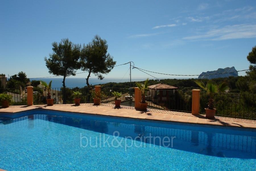 Moderne luxusvilla mit pool  Moderne Villa mit Meerblick Benissa Fanadix Costa Blanca