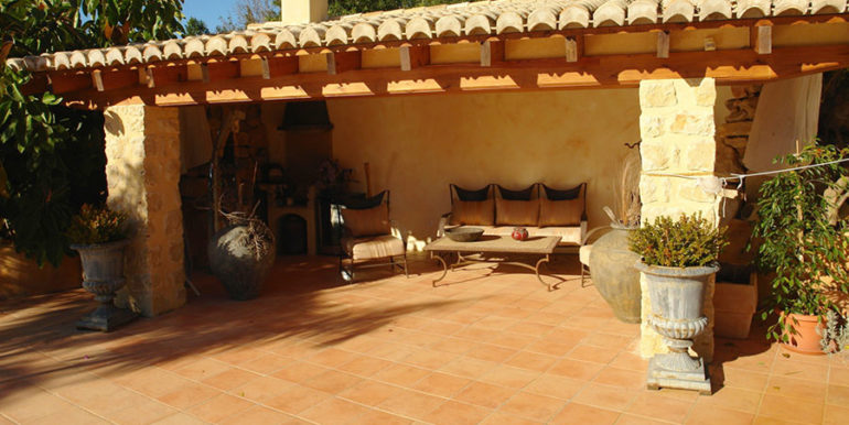 Stone finca with gardens and sea views in Benissa Canor - Covered pool terrace - ID: 5500007