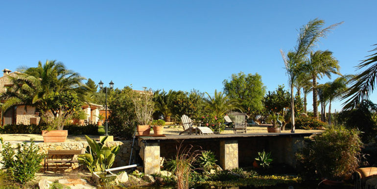 Stone finca with gardens and sea views in Benissa Canor - Pond - ID: 5500007