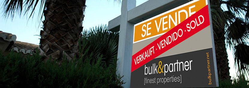 Erfolgreicher Verkauf von Immobilien an der nördlichen Costa Blanca - bulk&partner Immobilienmakler in Moraira an der nördlichen Costa Blanca