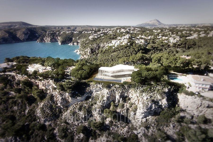 Minimalist waterfront luxury villa in Jávea Ambolo
