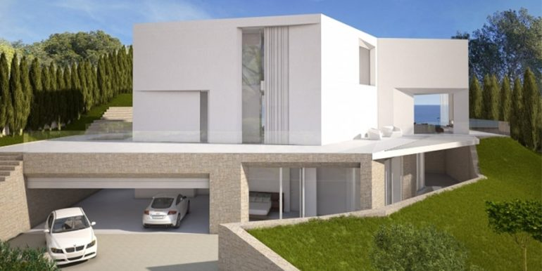 First line luxury Villa in Jávea Ambolo – Overall view – ID: 5500655 - Architect Ramón Esteve