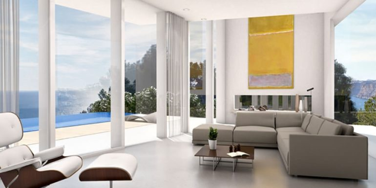First line luxury Villa in Jávea Ambolo – Living room – ID: 5500655 - Architect Ramón Esteve