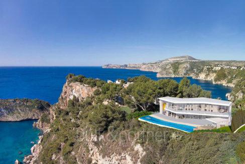 Minimalistische Luxusvilla in erster Line in Jávea Ambolo - Meerblick - ID: 5500655 - Architekt Ramón Esteve