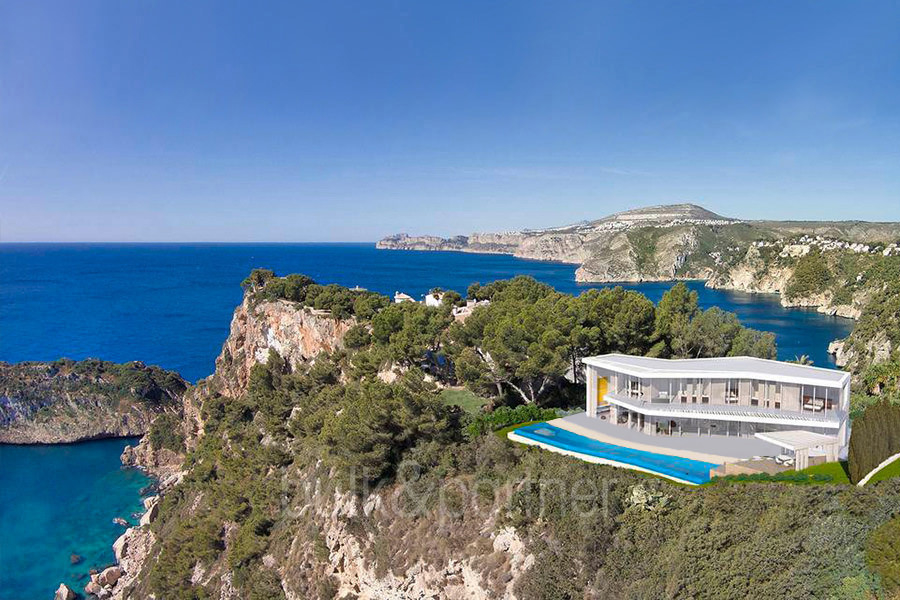 Minimalist waterfront luxury villa in Jávea Ambolo