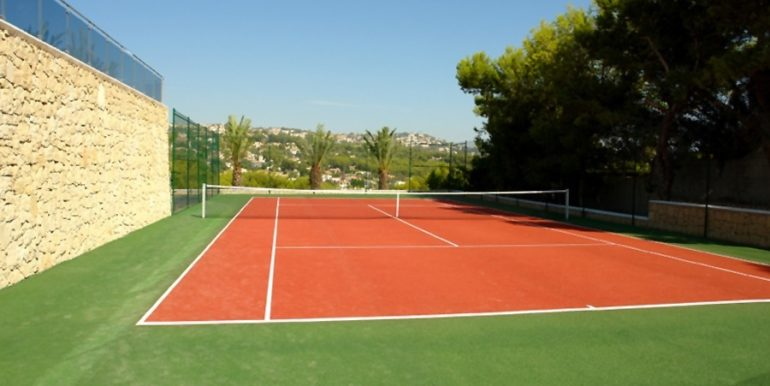 First line luxury villa in Moraira Cap Blanc - Tennis court - ID: 5500003