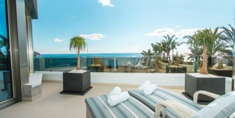 First line luxury villa in Moraira Cap Blanc - Terrace - ID: 5500003