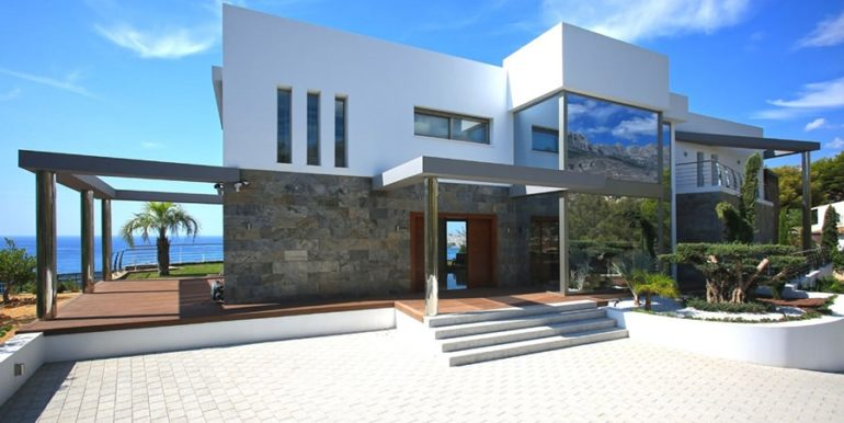 Exclusive first line luxury villa in Altéa Campomanes - Entrance - ID: 5500659 - Architect David Montés López