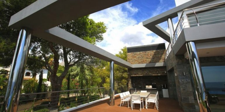 Exclusive first line luxury villa in Altéa Campomanes - Terrace and BBQ - ID: 5500659