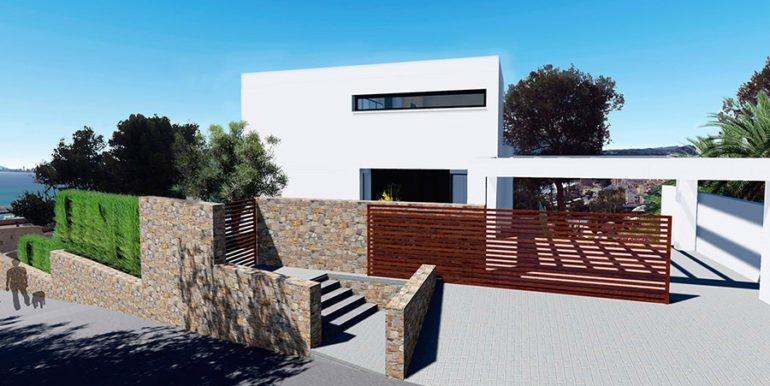 Modern luxury property in Moraira El Portet – Entrance and gate – ID: 5500658