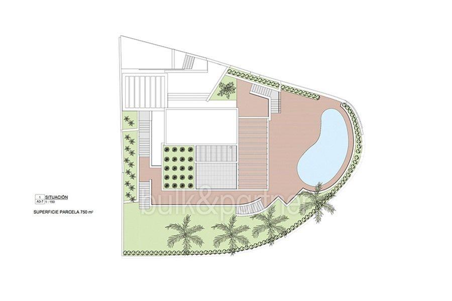 Moderna propiedad de lujo en Moraira El Portet - Plano infraestructuras - ID:5500658 - Arquitecto Joaquín Lloret