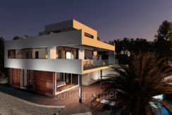 Modern luxury property in Moraira El Portet - By night - ID: 5500658
