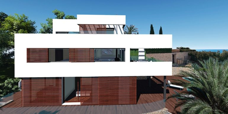 Modern luxury property in Moraira El Portet – Side view – ID: 5500658