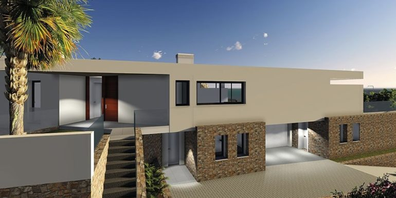 Modern new build luxury villa with sea views in Moraira Portichol - Entrance - ID: 5500656 - Architect Joaquín Lloret