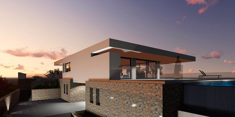Modern new build luxury villa with sea views in Moraira Portichol - Back side - ID: 5500656 - Architect Joaquín Lloret