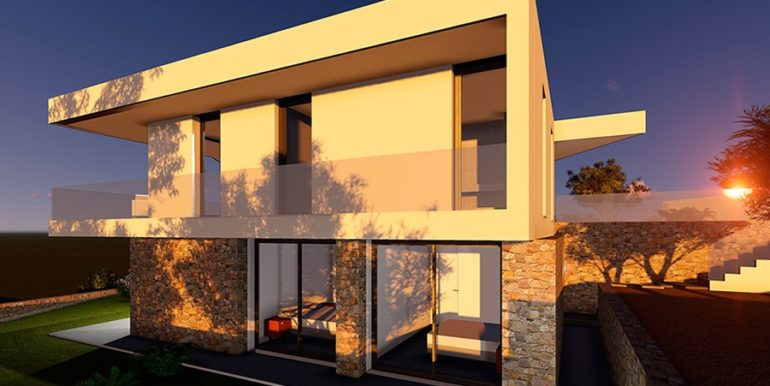 Modern new build luxury villa with sea views in Moraira Portichol - Side view - ID: 5500656 - Architect Joaquín Lloret