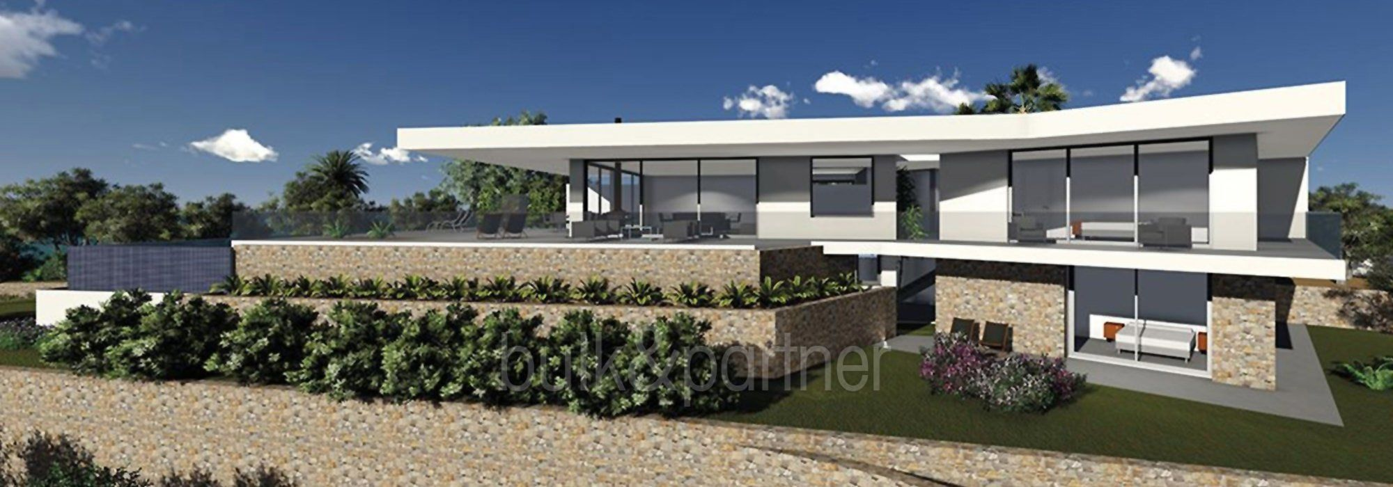 Modern new build luxury villa with sea views in Moraira