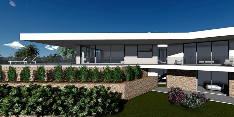 Modern new build luxury villa with sea views in Moraira Pla del Mar - ID: 5500656
