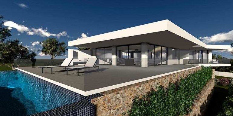 Modern new build luxury villa with sea views in Moraira Pla del Mar - Infinity pool - ID: 5500656