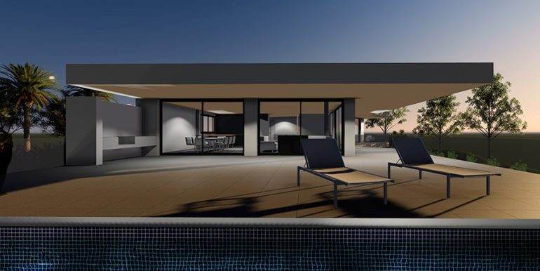 Modern new build luxury villa with sea views in Moraira Portichol - Pool Terrace - ID: 5500656 - Architect Joaquín Lloret